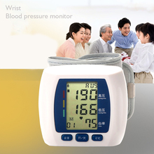 Hot sale Electric digital wrist type blood pressure monitor connected to computer