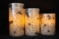 China wholesale real wax color changing LED candle