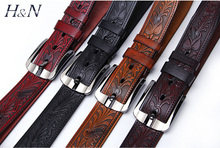 2014 China supplier reversible Men's Genuine leather Belts