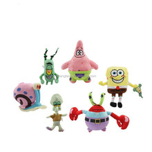 Most complete sponge bob 6 kinds of mine role kids plush toys for children's presente and gift