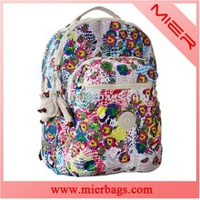 printed girl's backpack with laptop pocket with polyester