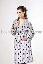 230g coral fleece dot homewear women's bathrobe