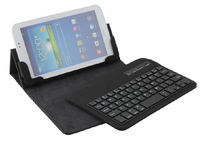 Spanish Layout Charming leather case bluetooth keyboard for ipad mini