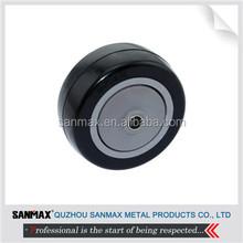 "Factory direct price 3"" black PU wheel, single caster wheel"