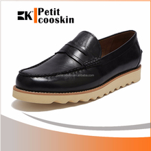 Black brazil imported leather men casual loafers shoes