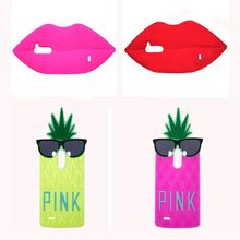 2015 The Newest Victoria/'s Secret PINK Luxe 3D Glasses pineapple Flames Sexy lips soft silicone Case For LG G3