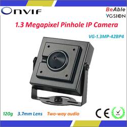 720P Pinhole Camera Small IP Camera Speaker Microphone