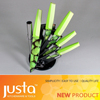 Color kitchen coating knife set with quadrate handle