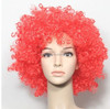 Football National Fans Red Afros Wigs Fun Costume Wigs