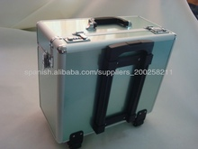 Aluminum trolley case eva wholesalers,case trolley travel with Nylon and Bag inner,soft trolley case