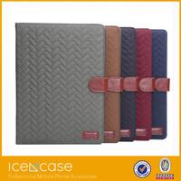2015 Unique fastener tartan case for ipad air2,leather case for ipad air2