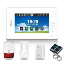 """7 """" color touch screen gsm alarm system"""