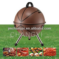 14 inch portable bbq grill in basketball shape