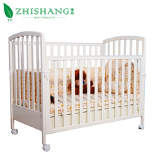 Nice style white color wooden baby cribs