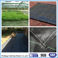 PP Spunbond woven Agriculture Black Ground Mulch Film/Cover