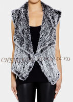 CX-G-B-192B Newest Style Knitted Rabbit Fur Vest