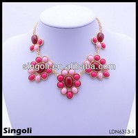 indian beads jewellery designs lively gold plated necklace for girls
