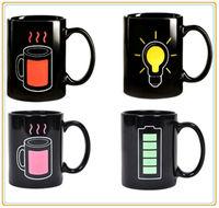 Fashional Magic Heat Sensitive Color Changing Mug With Hand Shank