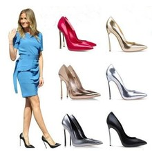 14994 New Arrival 2015 Women Western Style Spring Summer High Quality Pointed Toe High-Heel Shoes