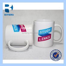 White coloful sublimation mug ,logo printing coffee mug,promotional mugs tea mug with spoon ceramic