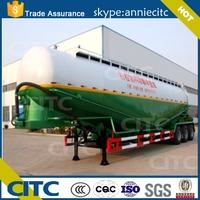 CITC 50cbm lime powder tank truck trailer / Bulk cement tank truck semi trailer bulk semi trailer