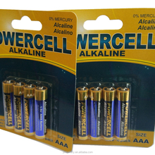 Hot selling aaa lr03 am4 alkaline battery fresh made from factory