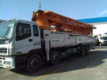 zoomlion concrete boom pump 2012 - 52m used concrete mixer truck with pump