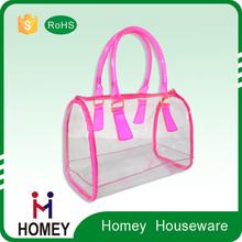custom cute mini cubic transparent vinyl cosmetic clear PVC pouch bag