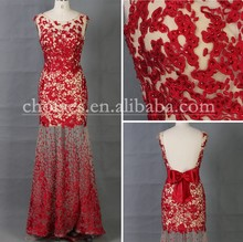 CY62800 Red Appliqued Ball Gown Dress Zuhair Murad Evening Dresses For Sale