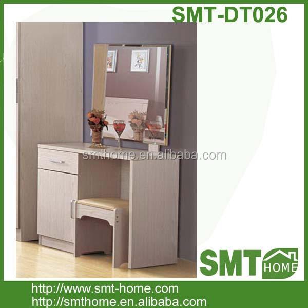 simple paquete plano melamina partculas mdf madera tocador de maquillaje con espejo cmodas para dormitorio