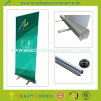 portable roll up banner advertising display stand feet with plastic end cap