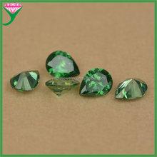Synthetic cubic zirconia pear shape emerald dark green jade man-made cz stone