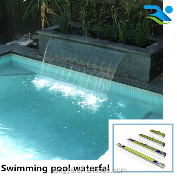 Acrylic water outlet for swimming pool waterfall swimming for Pool garden outlet