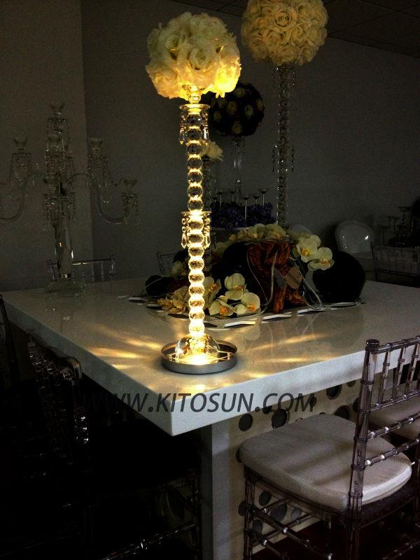 Wedding centerpiece led light table decoration vase