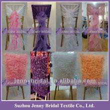 C003-C004 Jenny Bridal Wedding Decoration Ruffled Sash Cheap Wedding Chair Covers