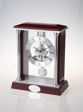 Quartz Analog Type Glass wooden pendulum wall clock
