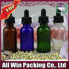 galss dropper bottles different colors and different rubber top