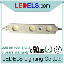 Waterproof 1.2W 12V SAMSUNG 5630 3 LEDs Injection Module LED for letter signs UL E468389