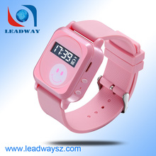 Top sell gps watch web tracking software device for kids with two way communication LDW-TKW19G