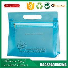 manufacture recyclable cosmetic zipper pvc clear bags