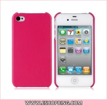 KOOBOS PU Leather Surface Protective Case for iphone 4 4S Pink