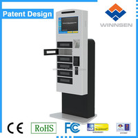 winnsen self-serivce note accepter tablets charging kiosk APC-06B