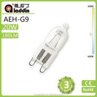 ECO halogen lamp 220v 20W G9 with high lumen and good sell