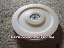High performance machined nylon ball bearing wheel