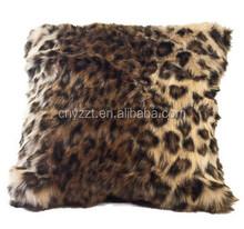 printed leopard pillows/faux fur pillow covers/fashion luxury pillows