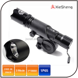 Warranty 1 year 5W police 18650 or AAA battery mountain bicycle rechargeable led light bike