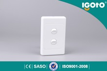 Igoto 2 gang Australian style electric wall switches with SAA