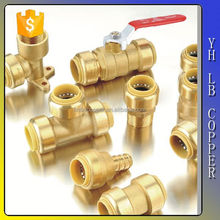"""Lead free brass series & plastic """" vent tee push fit A S pvc threaded fittings push fit fitting"""