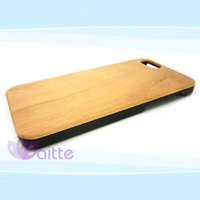 New Style PC+bamboo smart Phone Case cover For iPhone6 plus