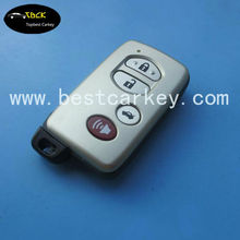 3+1 buttons smart key cover for Toyota camry toyota car key cover